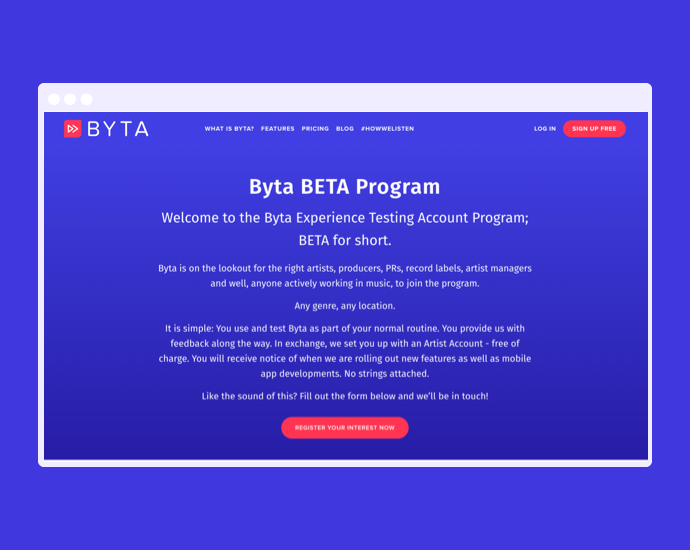 Announcing Byta's BETA Program