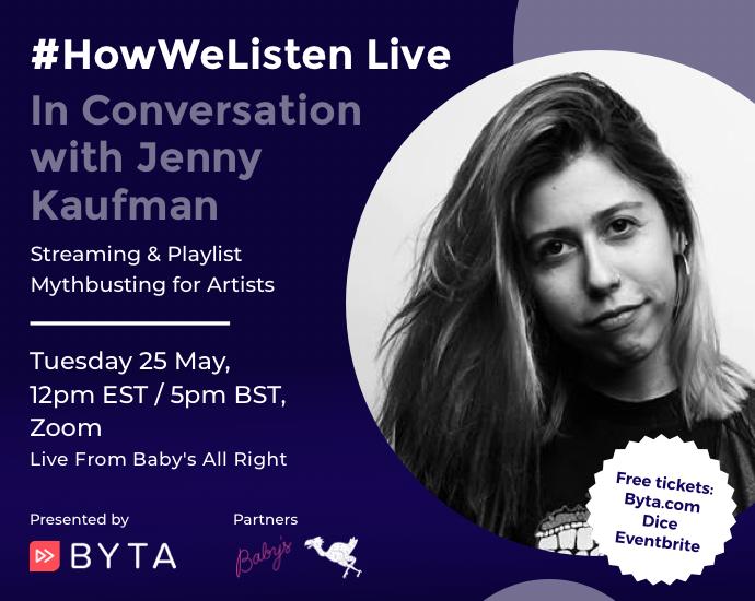 Byta Presents: #HowWeListen Live: In Conversation with Jenny Kaufman